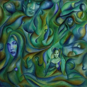 Gemälde Painting Nixenträume