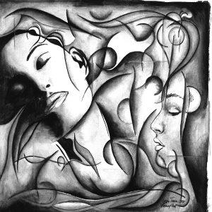 Gemälde Painting Erster Traum 2000