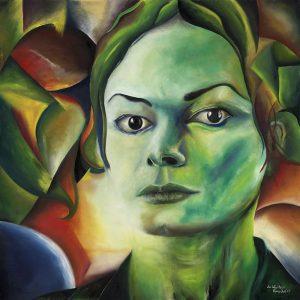 Kunst Gemälde Painting Die Wächterin