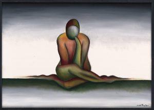 Kunst Gemälde Painting Geduld
