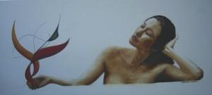Malerei - geheimes Glück Kunstwerk von Thomas Brill
