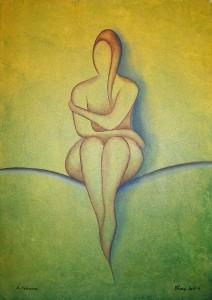 """Kunst Gemälde Painting """" Gelassene """""""