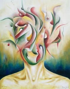 Kunst Gemälde Kino im Kopf