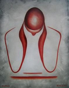 Kunst Gemälde modern art konzentrieren