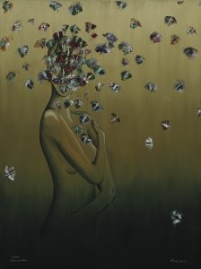 Kunst Gemälde Elegantes Gedankengestöber