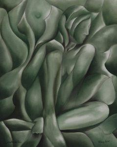 Gemälde Painting verwirrendes Grün