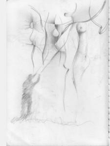 Skizzen Gemälde Drachenlenker