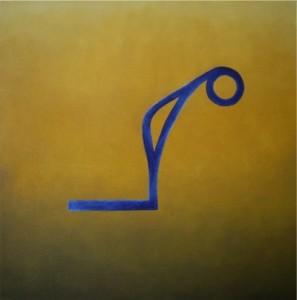 moderne Kunst: Gemälde außer Atem