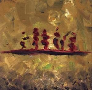 Gemälde von Thomas Brill: Narren