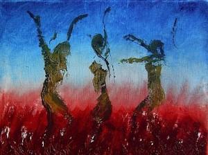 "Kunst Gemälde Painting "" heißer Tanz """