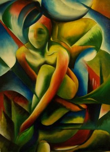 "Kunst Gemälde Painting "" Franz' Frau """