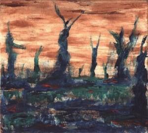 Gemälde Painting Nebelgestalten