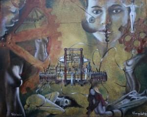 Kunstwerk Totalisator moderne Kunst