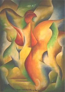 Kunst Bild Gemälde verborgene Weiblichkeit