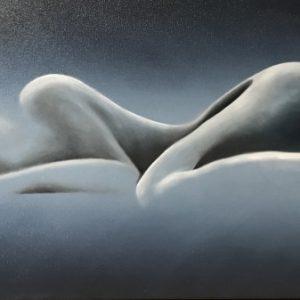 Bild einer Schlafenden abstrakt