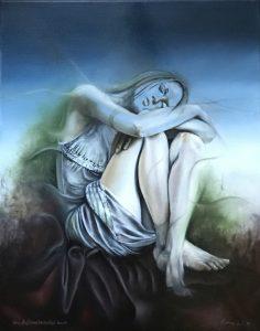 Gemälde Painting Vom Auflösen bedrohter Traum