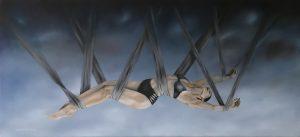 Gemälde painting vertrauensvoller Schlaf